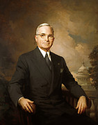 Politics Paintings - President Harry Truman by War Is Hell Store