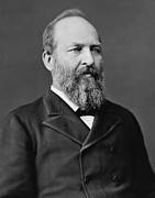 Us Presidents Photo Framed Prints - President James Garfield Framed Print by War Is Hell Store