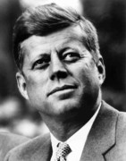 World Leaders Metal Prints - President Kennedy Metal Print by War Is Hell Store
