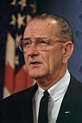 Candid Portraits Prints - President Lyndon Johnson Print by Everett