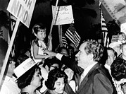 Mid-term Elections Posters - President Richard Nixon Greets Poster by Everett