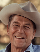 Republican Metal Prints - President Ronald Reagan Metal Print by War Is Hell Store