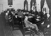 President Roosevelt Meeting Print by Everett