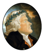 Independence Digital Art Framed Prints - President Thomas Jefferson Framed Print by War Is Hell Store