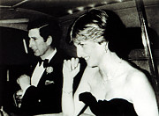 1980s Prints - Princesslady Diana Spencer, With Prince Print by Everett