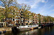 Boathouses Photos - Prinsengracht by Fabrizio Troiani