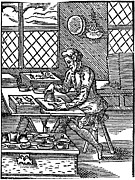 Block Printing Framed Prints - Printing Press, 16th Century Framed Print by Cordelia Molloy