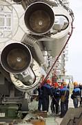 Proton-m Rocket Before Launch Print by Ria Novosti