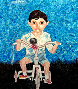 Portraits Paintings - Proud Peddler by Angela Pari  Dominic Chumroo