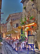 Rhone Alpes Framed Prints - Provencal restaurant Framed Print by Rod Jones
