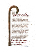 Bible Christianity Prints - Psalm 23 Print by Judy Dodds