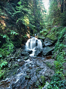 Argyll And Bute Prints - Pucks Glen falls Print by Gary Eason