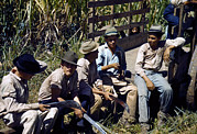 Puerto Rico. Sugar Cane Workers Resting Print by Everett