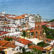 Above Prints - Puerto Vallarta Print by Elena Elisseeva