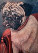 Pet Portraits Acrylic Prints - Pugsy by Enzie Shahmiri