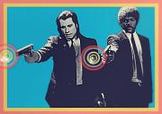 Celeb Metal Prints - Pulp Fiction Metal Print by Cassius Cassini