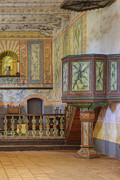 Art Product Photo Prints - Pulpit In Chapel At Mission La Purisima Print by Douglas Orton