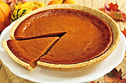 Desserts Photos - Pumpkin pie by Elena Elisseeva