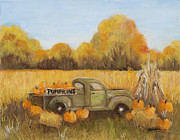 Pumpkins Paintings - Pumpkins For Sale by Pati Pelz