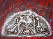 Paws Painting Originals - Puppy Wuv by April Brosemann