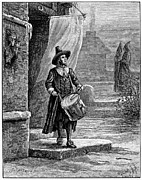 Deer Hat Prints - Puritan Church Drummer Print by Granger