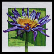 Flower Center Paintings - Purple and Gold Lily by John Lautermilch