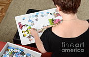 Puzzle Framed Prints - Puzzle Therapy Framed Print by Photo Researchers, Inc.
