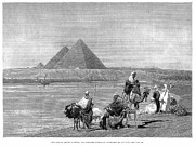 Pyramids At Giza, 1882 Print by Granger
