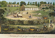 Quaker Framed Prints - Quaker Meeting, 1811 Framed Print by Granger