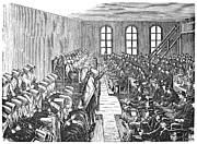 Quaker Meeting Print by Granger