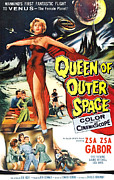 Classic Sf Posters Framed Prints - Queen Of Outer Space, Zsa Zsa Gabor Framed Print by Everett