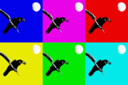 Andy Warhol Digital Art - Quoth The Raven Nevermore Six by Wingsdomain Art and Photography
