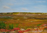 Sand Dunes Paintings - Rabbit Burrows by Joe Fogarty