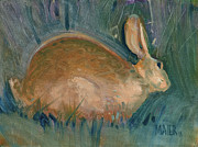 Bunny Paintings - Rabbit by Donald Maier