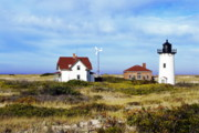 New England Lighthouse Prints - Race Point Lighthouse Print by John Greim