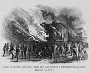 Oppression Art - Race Riot In Memphis, Tennessee, May 2 by Everett