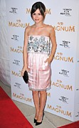 Satin Dress Metal Prints - Rachel Bilson Wearing A Chanel Couture Metal Print by Everett