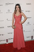 Evening Dress Framed Prints - Rachel Bilson Wearing A Zac Posen Dress Framed Print by Everett