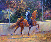 Saddlebred Posters - Rack On Poster by Jeanne Newton Schoborg