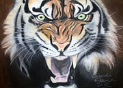 Tiger Pastels - Rage by Sandi Dawn McWilliams