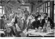 Waiter Framed Prints - Railroad: Diner, 1881 Framed Print by Granger