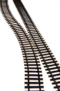 Cutouts Framed Prints - Railway tracks Framed Print by Bernard Jaubert