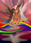 Nude Paintings - Rainbow fairies by Tbone Oliver