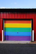 Queer Posters - Rainbow Garage Poster by HD Connelly