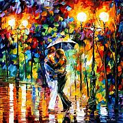 Rain Painting Framed Prints - Rainy Dance Framed Print by Leonid Afremov