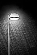 Streetlight Prints - Rainy Night Print by Gert Lavsen