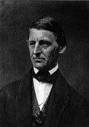 Waldo Posters - Ralph Waldo Emerson 1803-82 American Poster by Everett