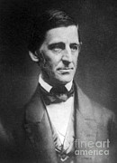 Influential Framed Prints - Ralph Waldo Emerson, American Author Framed Print by Photo Researchers