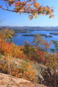 Rattlesnake Photos - Rattlesnake Cliffs Squam Lake by John Burk