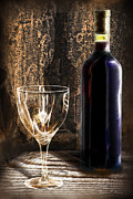 Wine Pour Digital Art Posters - Ready To Be Served Poster by Danuta Bennett
